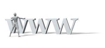 WWW est le dieu Images stock
