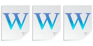 Www on files Stock Photos