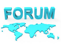 Www Forum Means Social Media And Worldwide Royalty Free Stock Photos