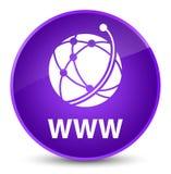 WWW (global network icon) elegant purple round button. WWW (global network icon) isolated on elegant purple round button abstract illustration Stock Photos