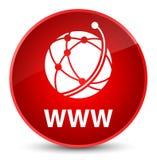 WWW (global network icon) elegant red round button Stock Photos