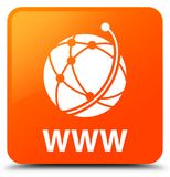WWW (global network icon) orange square button Stock Photography