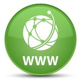 WWW (global network icon) special soft green round button. WWW (global network icon) isolated on special soft green round button abstract illustration Stock Image