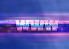 Www graphic technology. Internet symbol www in a graphic univers Stock Photo