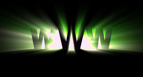 WWW Green. The power of world wide web (green light Royalty Free Stock Photography