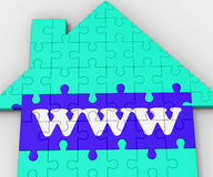 Www. House Shows Purchasing Property On Line Royalty Free Stock Image