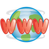 WWW icon. Stylized www icon or symbol Stock Photos