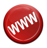 Www icon. Isolated red icon with www icon stock illustration