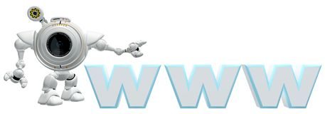 WWW icon with robot Stock Image
