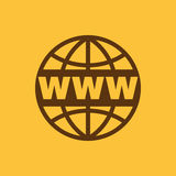 The WWW icon. SEO and browser, development, www symbol. UI. Web. Logo. Sign. Flat design. App. Royalty Free Stock Photography