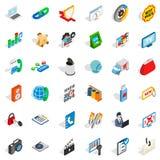 WWW icons set, isometric style. WWW icons set. Isometric style of 36 www vector icons for web isolated on white background Stock Photo