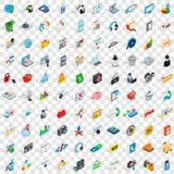 100 WWW-Ikonen eingestellt, isometrische Art 3d Lizenzfreie Stockfotografie