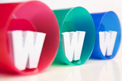 WWW inside RGB tube Stock Photography