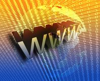 WWW Internet. Online digital abstract wallpaper illustration Stock Photos