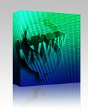 WWW Internet box package Stock Image