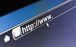 WWW Internet Browser HTTP Concept. Internet browser on a HTTP URL address Stock Photo