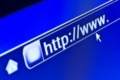 WWW Internet Browser HTTP Concept. Internet browser on a HTTP URL address Royalty Free Stock Photo