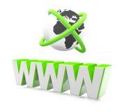 Www internet communication. Letters concept 3D text Stock Photos