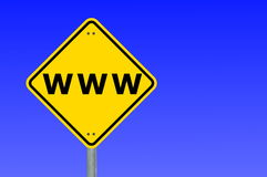 Www or internet concept. With copyspace for a text message Stock Photos