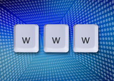 Www internet concept. Www keys, internet concept, world wide web Stock Images