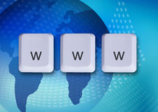 Www internet concept. Www keys, internet concept, world wide web Royalty Free Stock Photos