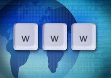 Www internet concept. Www keys, internet concept, world wide web Royalty Free Stock Images