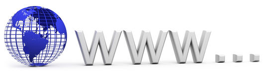 Www Internet concept Royalty Free Stock Images