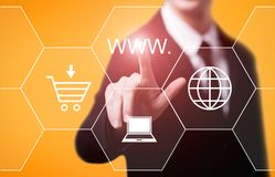 WWW internet Connection Web Technology Network Concept.  Stock Photo
