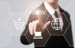 WWW internet Connection Web Technology Network Concept.  Stock Photos