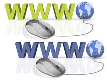 WWW internet connection world wide web Stock Images
