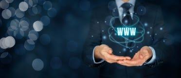 Www Internet en SEO Royalty-vrije Stock Foto's
