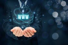 Www Internet en SEO Stock Foto's