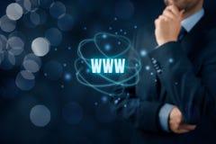 Www Internet en SEO Stock Afbeelding