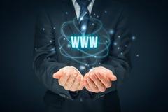 Www internet i SEO Obraz Stock