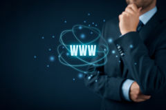 Www internet and SEO Stock Photo