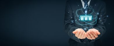 WWW-Internet und SEO Lizenzfreies Stockfoto