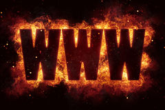 Www internet website terror terrorism fire burn flame text is explode. Explosion Stock Photos