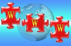 WWW Jigsaw Puzzle Royalty Free Stock Photos