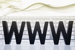 WWW and keyboard. Stock Images