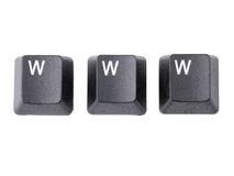 WWW keys Stock Photos