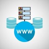 Www language data base storage. Vector illustration eps 10 Royalty Free Stock Images