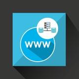 Www language data base storage. Vector illustration eps 10 Royalty Free Stock Photo