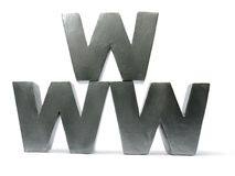 WWW letters Stock Photos