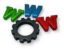 Www letters and cogwheel Stock Images