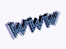 WWW met dromerige schaduw stock illustratie