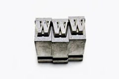 WWW - metal type Stock Images