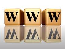 WWW mit Reflexion Lizenzfreie Stockfotografie