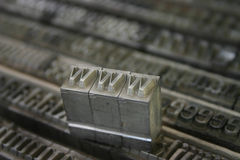 WWW movable type Stock Photos