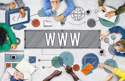 WWW Network Online Connection Technology Concept Stock Image