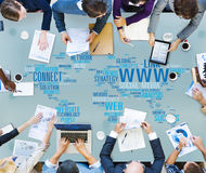 Www Networking Internet Technology Connection Concept Stock Image